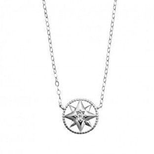 Necklace Star and CZ Disc Pendant