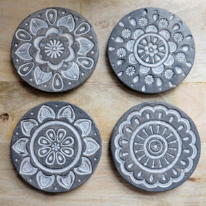 Coaster Resin Mandala S/4