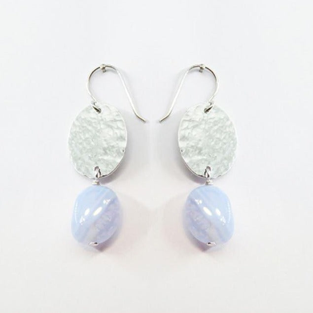 Earring Blue Lace Agate