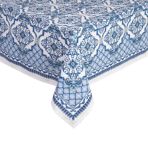 Printed Table Cloth  - Lapis