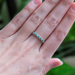 Ring All lined up Turquoise