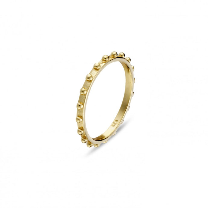 Ring Band with Ball Detail - Gold