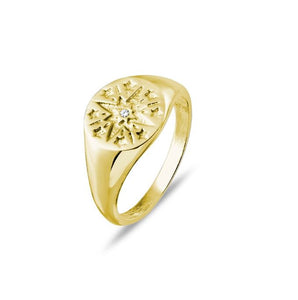 Ring Signet w Star Detail
