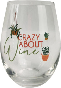 Wine Glass Crazy About Wine