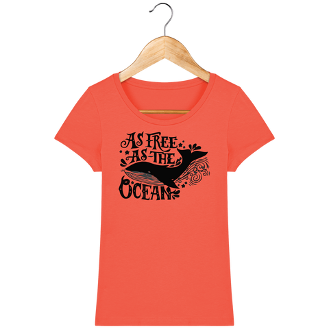 T-shirt femme Free as the ocean - Instinct-ocean