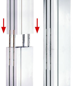 ADM-P600 600mm aluminium vertical column & joining kit