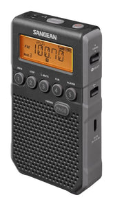 Sangean DT-800BK AM/FM Personal stereo radio with ear phones, plus speaker, rechargeable.
