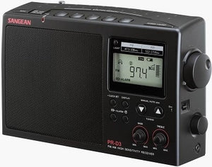 Sangean PR-D3B AM/FM Radio, mains or battery with clock and alarm, 10 Station presets