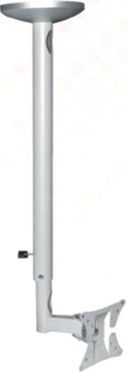 Ezymount VCL-100 LCD ceiling mount (100x100) 620mm to 870mm extns, tilt,Silver up to 22