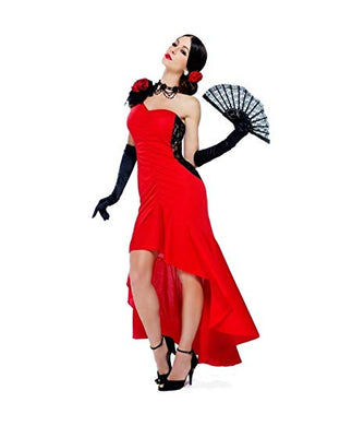 Womens Sizzling Senorita Flamenco Dancer Costume Importado