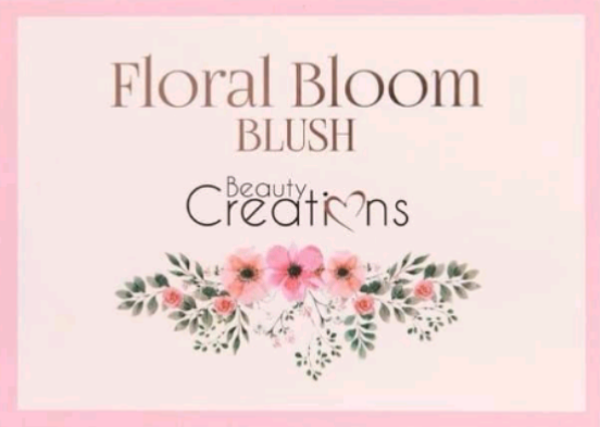 Paleta de Rubores FLORAL BLOOM de BEAUTY CREATIONS + Brocha escarcha bronce