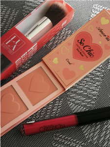 Combo SO CHIC MATTE AND SHIMMER DUO BLUSH AMOR US (Coral – Rose – Fresh)