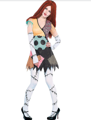 SALLY Adult Sally Costume - The Nightmare Before Christmas Importado