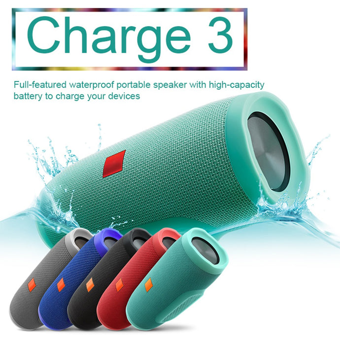 Bocina Bluetooth Tipo Jbl Charge3 Portátil Recargable Impermeable