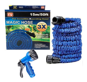 MANGUERA EXPANDIBLE MAGIC HOUSE CON PISTOLA – 22 MTS - 30 MTS - 60 MTS