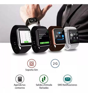 Reloj Inteligente Smartwatch W101 Sim Card + Bluetooth