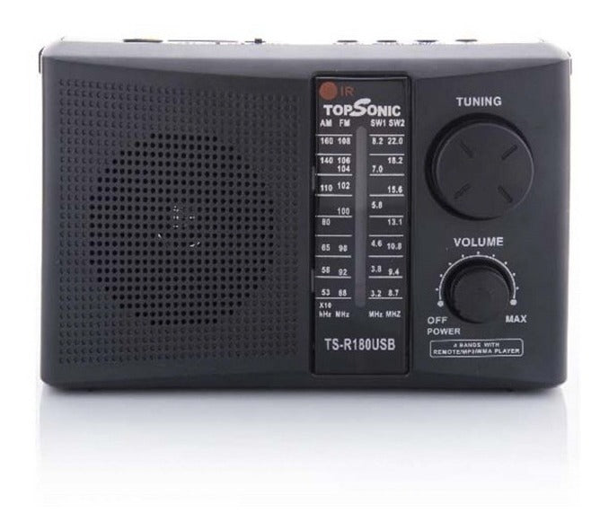 Radio Top Sonic Am Fm Usb Sd Recargable Ts-r180usb Control