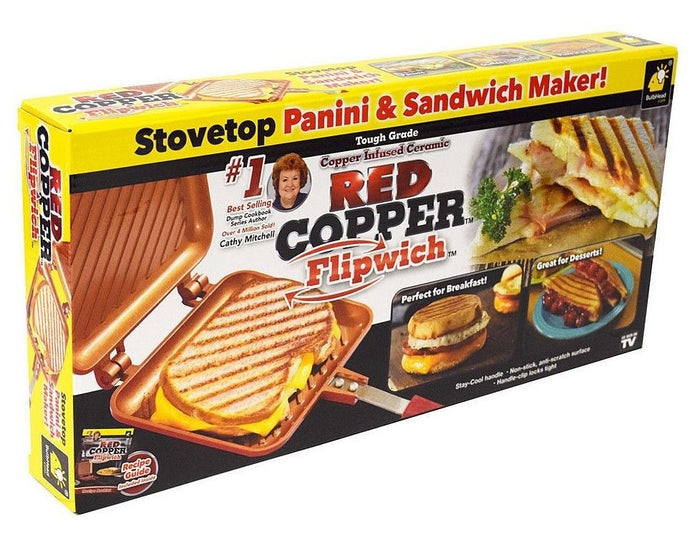 Sandwich Asado A La Parrilla De Red Copper Flipwich Duo Tv