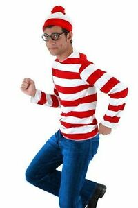 Where's Waldo Costume Beanie Adult One Size Importado