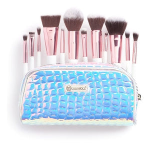 Set De Brochas Crystal Quartz + Cartuchera Bh