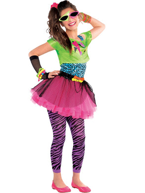 TOTALLY AWESOME Tremenda Childrens Totally Awesome 80s Girl Costume Importado