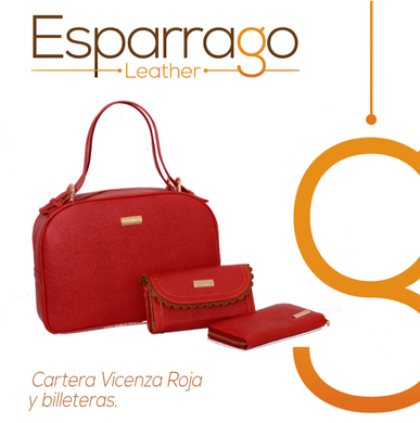 Cartera Vicenza Roja y Billeteras
