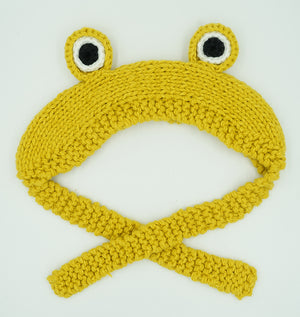 Funy Frog Cotton Headgear For Large And Medium Dogs