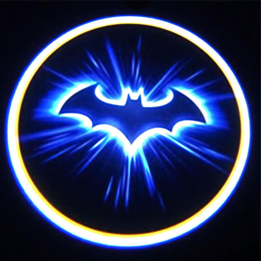 Car Fitg Wireless LED Car Door Projector Puddle Batman Logo Light