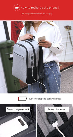 Amazing Anti Theft Backpack With Usb Charging Port