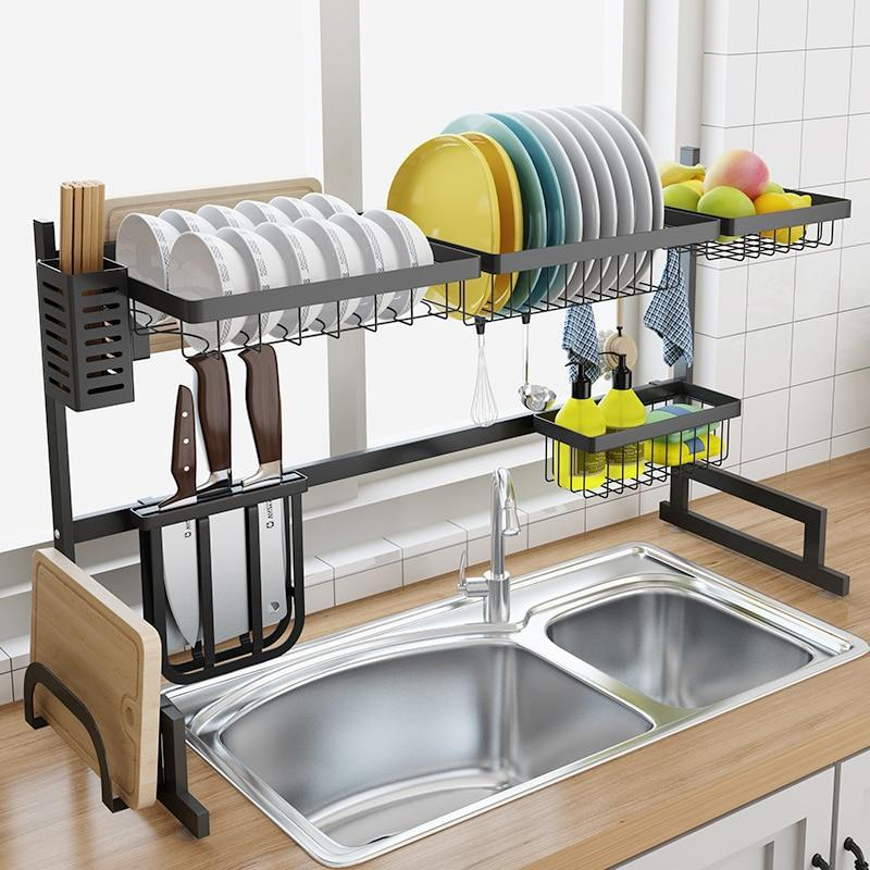 Stainless steel multifunctional kitchen shelf