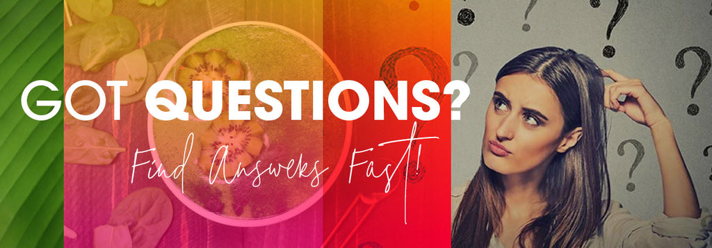 Frequently Asked Questions Banner — MyRainbowl / AMAZONIA