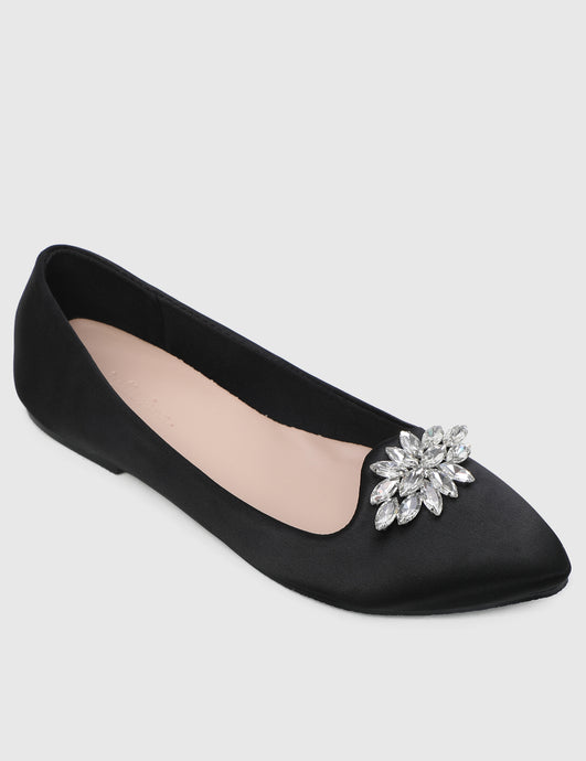 Stella Comfy Ballerina In Black