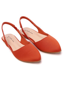 Kate Comfort Ballerina   Brick Red