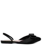 Load image into Gallery viewer, Bowie Satin Comfort Ballerina   Black