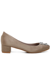 Load image into Gallery viewer, Elegant Suede Comfy Heels In Beige