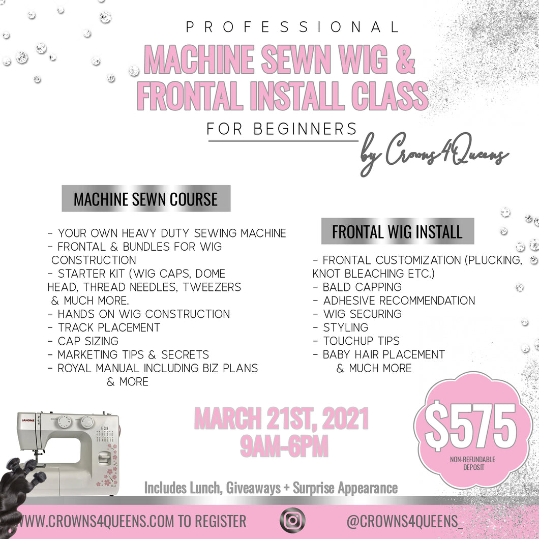 Sewing Machine & Frontal install class