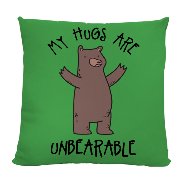 my hugs are unbearable cushion by Todd Goldman Art