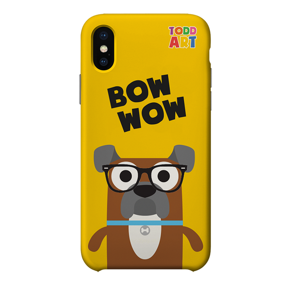 Boxer Bow Wow Phone Cases Yellow by Todd Goldman Art