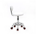 Adjustable Rotating Hydraulic Round Leather Stool with Backrest