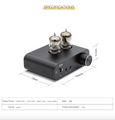 Sabaj PHA3 Vacuum Tube Headphone Amplifier 2X6J9 Low Ground Noise Integrated Stereo Amp Audio HIFI Output Protection for Headphone