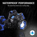 2020 Rechargeable Headlamp LED Waterproof Zoomable Super Bright