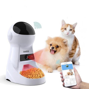 Automatic Pet Feeder Dispenser With Camera Voice Record Pets Food Bowl