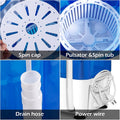 Compact Mini Semi Auto Washing Machine 2-in-1 Function Environmentally Friendly Energy Saving Washing Machine Rotary Controller(Blue)