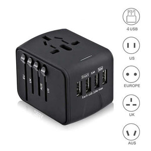 Travel Adapter International 4 USB Wall Charger