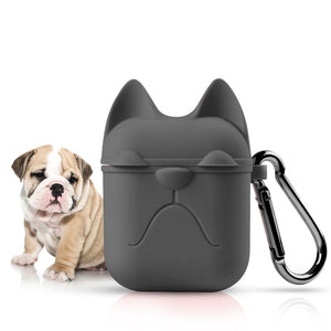 Bulldog Face Silicone Case For AirPods