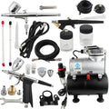 Pro Airbrush Kit with Air Tank Compressor
