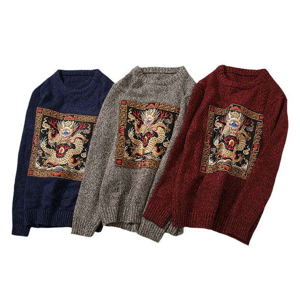 Year Of The Dragon O-Neck Sweater