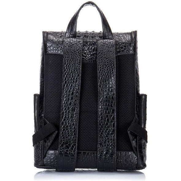 GENUINE Crocodile Leather Backpack - FASHINOPOLITAN