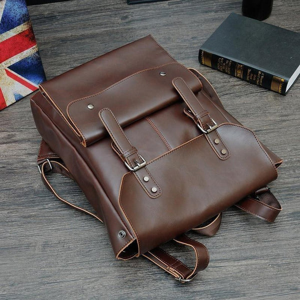HORSE LEATHER Backpack - FASHINOPOLITAN