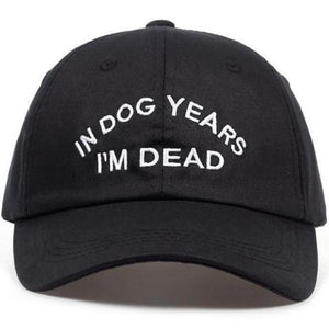 Hats- In Dog Years I'm Dead Hat - FASHIONOPOLITAN
